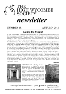 Autumn 2016 Newsletter front page