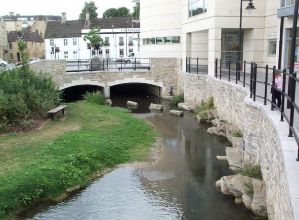 River Marden in Calne, Wiltshire