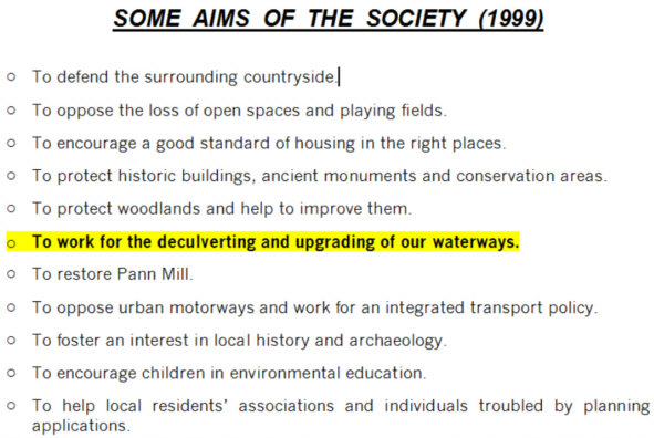 Aims of the High Wycombe Society